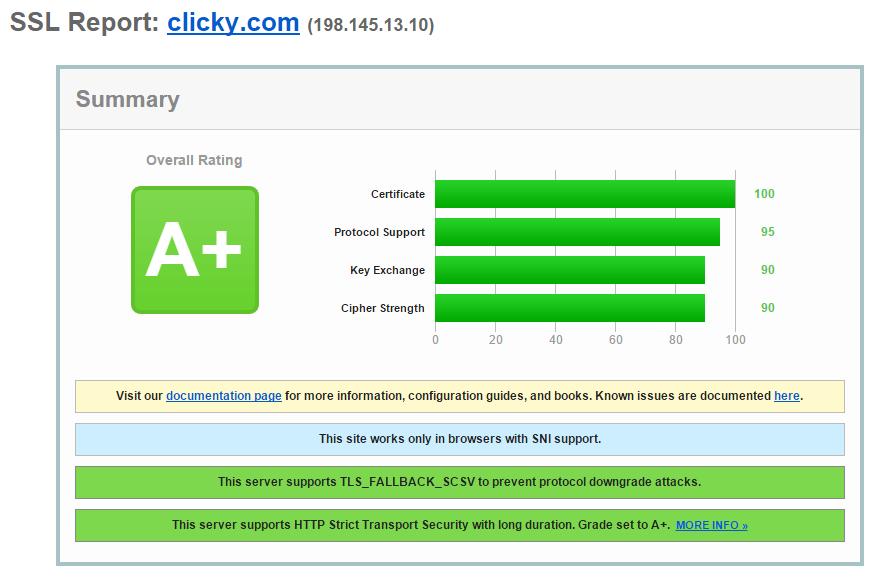 Nginx and A+ SSL | Clicky Blog